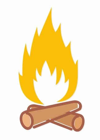 firewood: A fire logo with firewood.