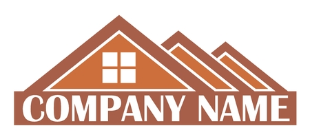 house construction: A logo of the cottage settlement with roofs.