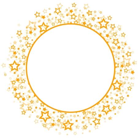 cornice rotonda con stelle dorate.