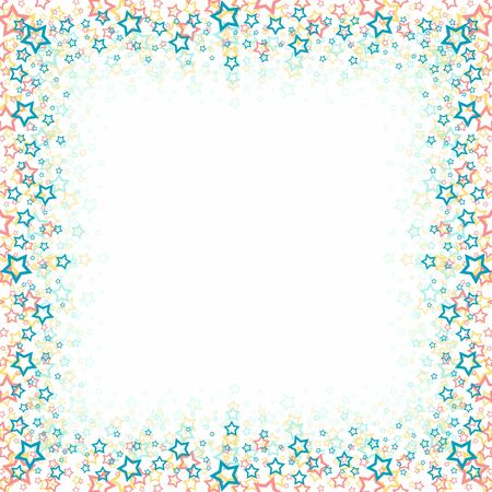 asterisks: A square frame with color stars
