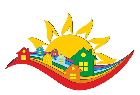 the settlement: A cottage logo from the sun dawn.