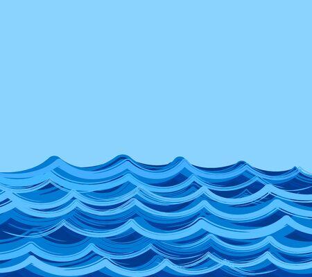 sea landscape: A sea landscape with blue wave