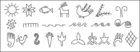 agro: Ancient petroglyphic symbols of the Slavic people. Illustration