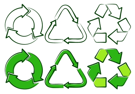 shooters: Green signs of recycling. Illustration
