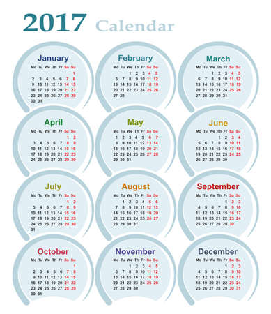 log off: Calendar for 2017.
