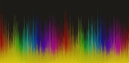 multi level: Color sound wave.