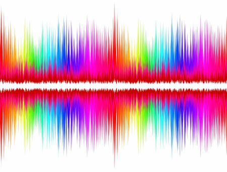color scale: A background with color sound wave.