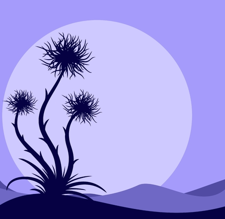prickle: Night landscape with a prickle.