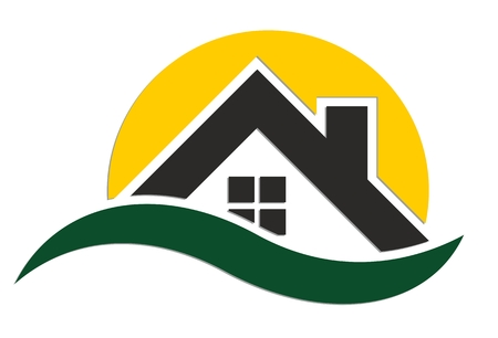 house: Logo of country house. Illustration