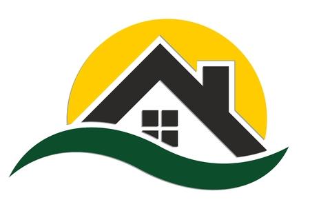 casa de campo: Logotipo de casa de campo. Vectores