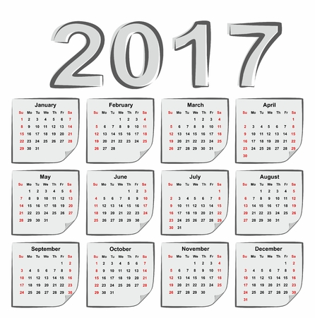 the day off: Calendar for 2017.