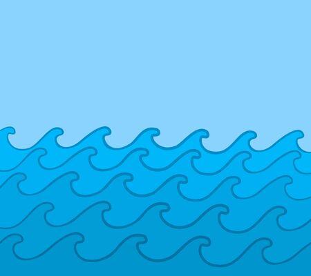 big waves: Blue sea with waves.