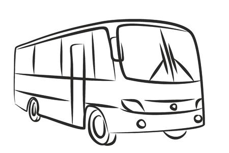 the passenger: Sketch of passenger bus. Stock Photo
