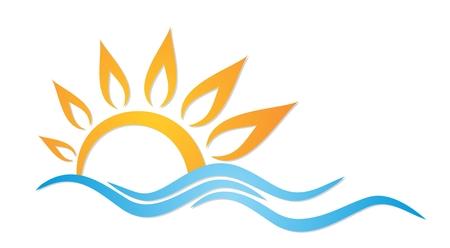 reservoir: sun and sea. Illustration