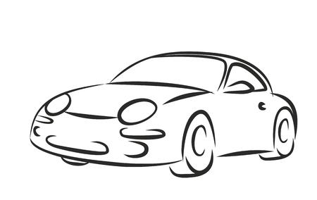 old car: Sketch old car. Illustration
