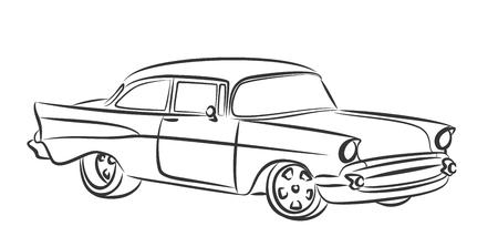 coche antiguo: coche viejo boceto.