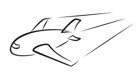 air liner: passenger plane.