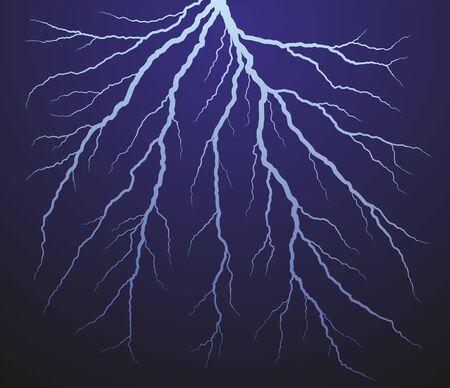 discharge: Lightning stroke in the sky.