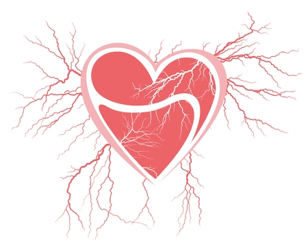 discharge: Broken heart with the lightning.