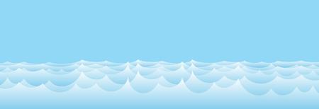 A sea landscape with a blue wave.