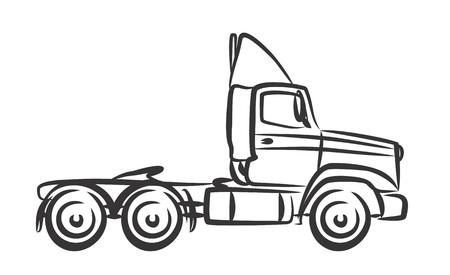 long distance: Sketch of big truck.