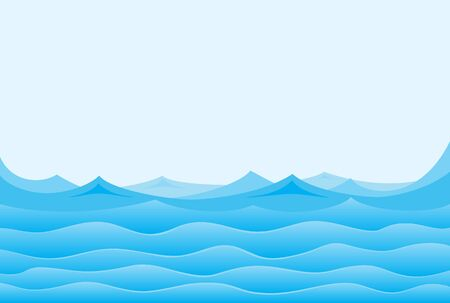 ocean waves: A sea landscape with blue waves.