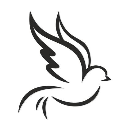 Vliegende vogel. Stockfoto - 54902787