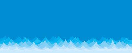 sea landscape: Sea landscape with a blue wave. Illustration