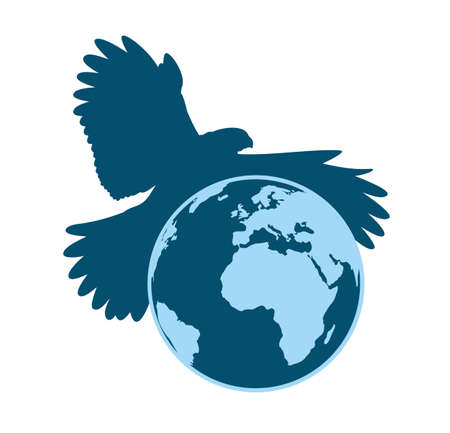 wingspan: Globe with flying eagle.