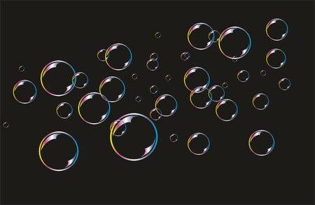 bulles de savon: Background with soap bubbles. Illustration