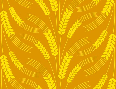Seamless background with wheat.