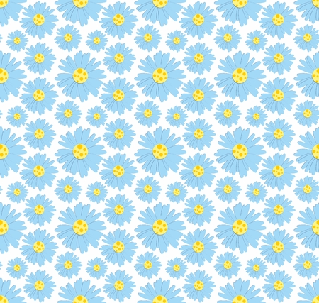 camomiles: Seamless background with camomiles.