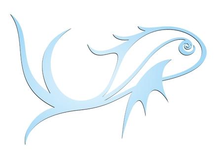 blue fish: Logo of blue fish. Illustration