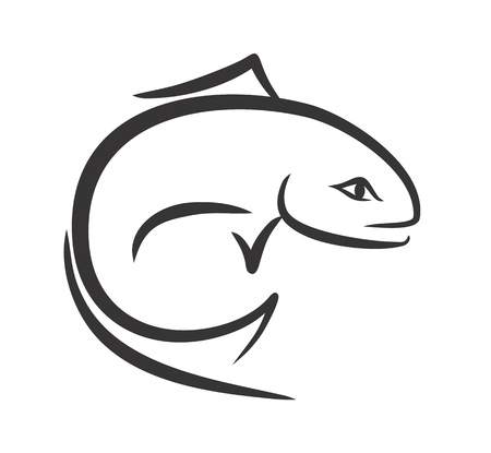 fishery: Sketch of fish.