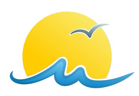 albatross: Logo sun and sea.