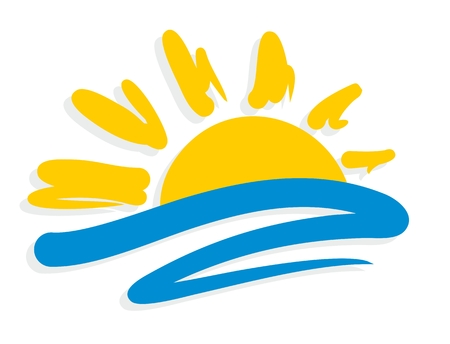 Logo sun and sea.