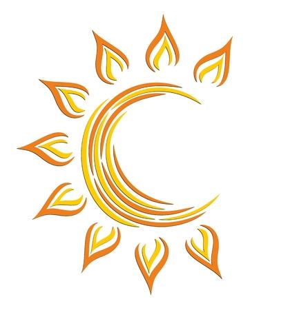 Logo di sole luminoso.