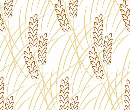 agro: Seamless background with wheat.