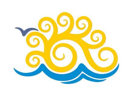 albatross: Logo sun and sea.