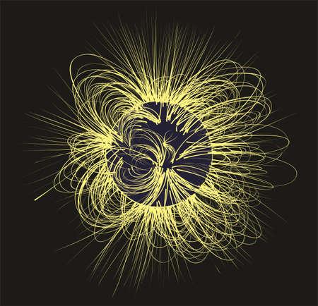 radiacion solar: La radiación solar en el espacio.