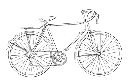 sketch: Sketch of sports bicycle.