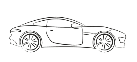 Logo sports car.