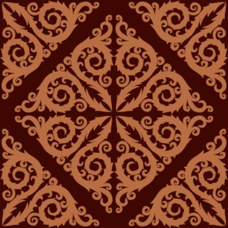 paving tiles: Seamless background with flower pattern.