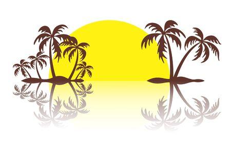 tropical: Logo of tropical island.