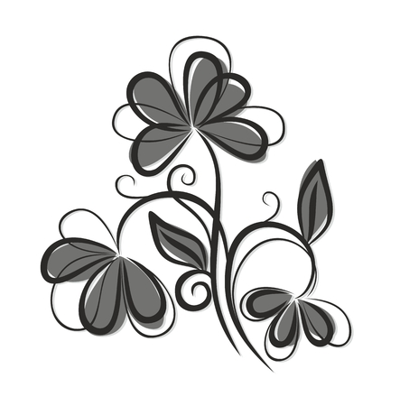 cultivated: Logo of field flower.