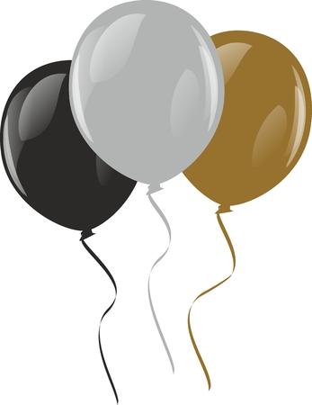festive: Color festive balloons.