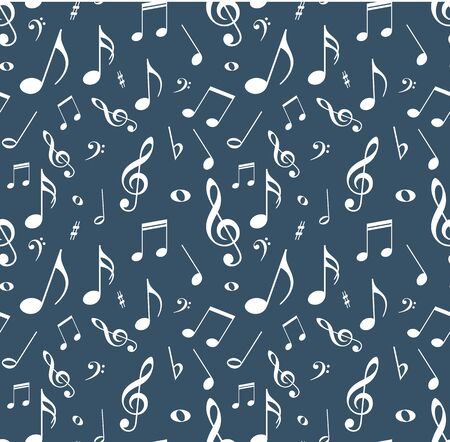 musical notation: Seamless background with notes.