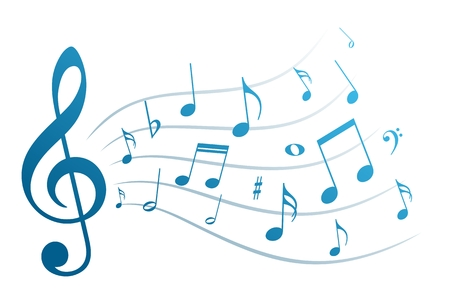 musical notation: Music notes.