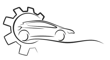 midget: Logo car service.
