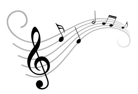 Musiknoten.  Standard-Bild - 60987256